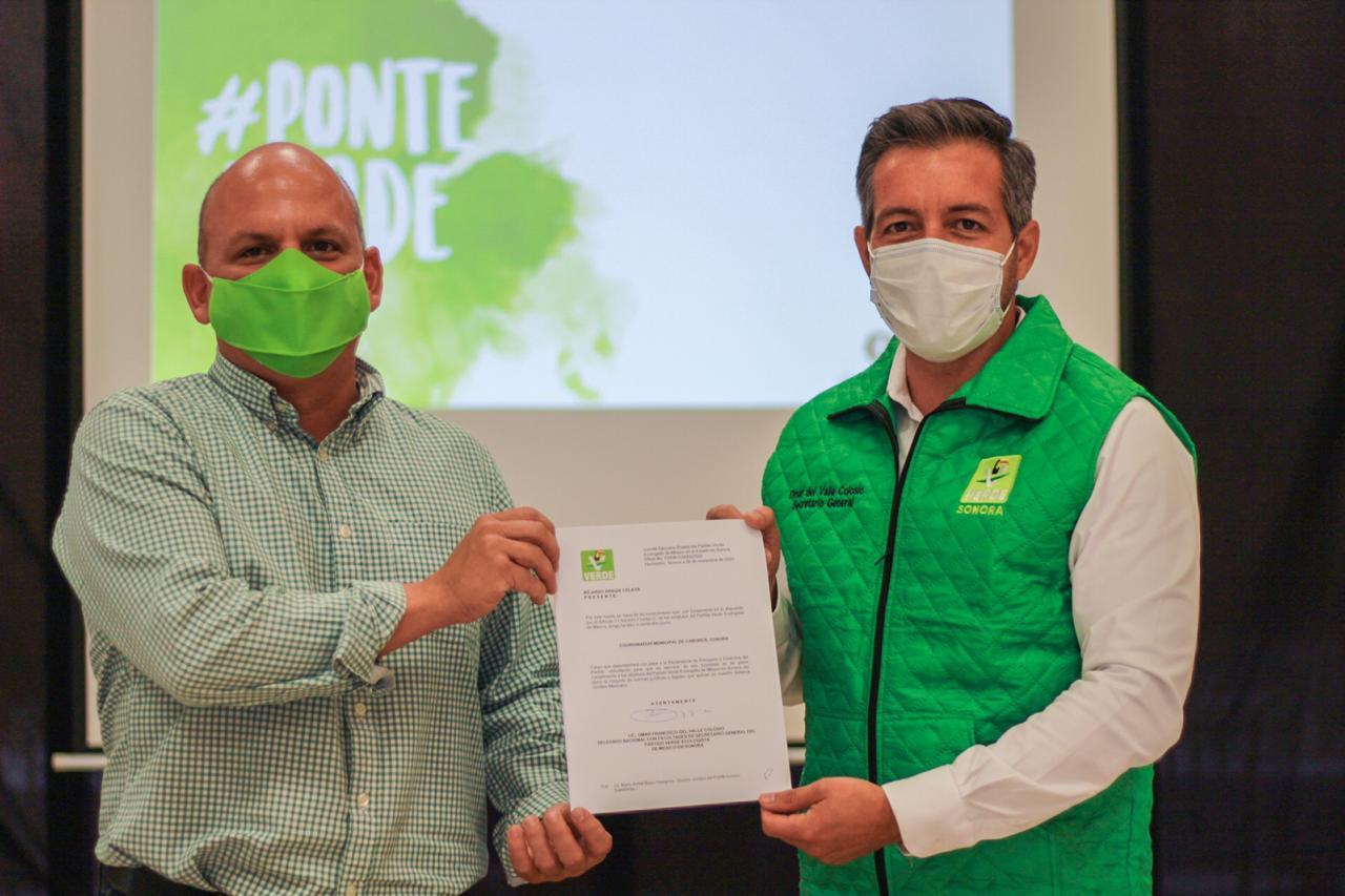 Ricardo Araiza es el nuevo dirigente municipal del Verde Sonora en Caborca