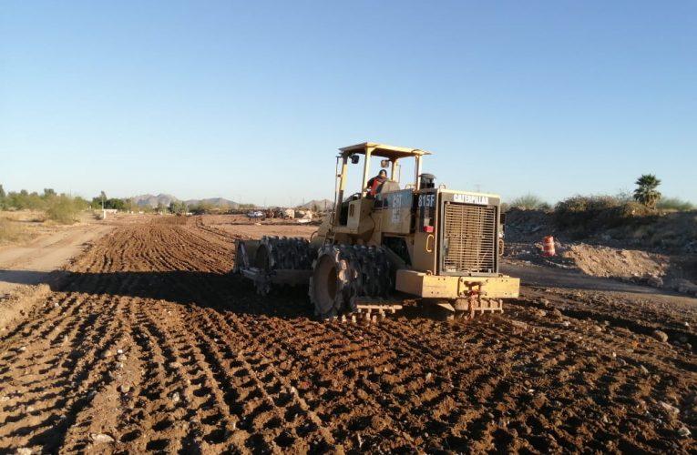 Inicia pavimentación con concreto hidráulico en la prolongación del Bulevar Serna en Hermosillo