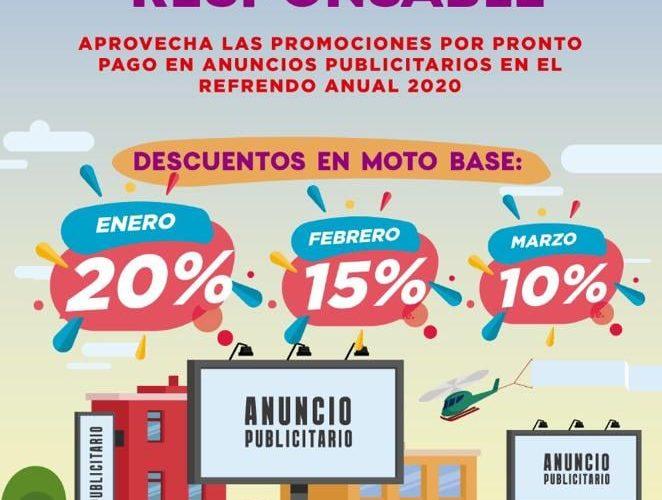 LLAMA ECOLOGÍA A REGULARIZAR CONTRIBUCIONES POR MANEJO DE PUBLICIDAD