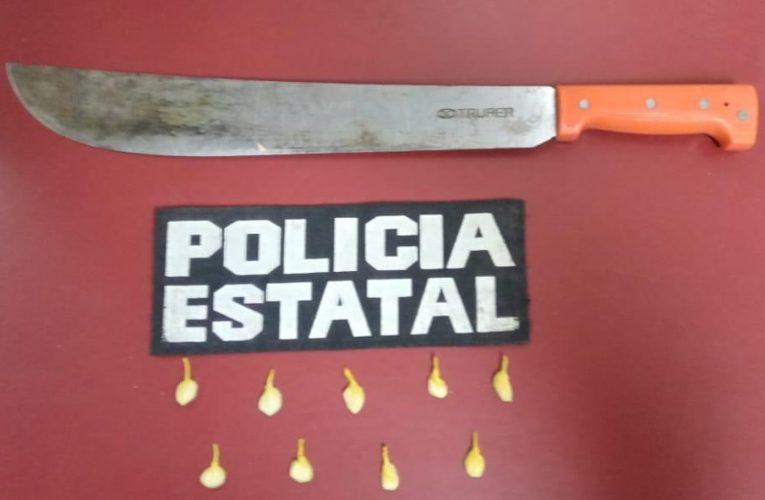 Detiene PESP a narcomenudistas en SLRC