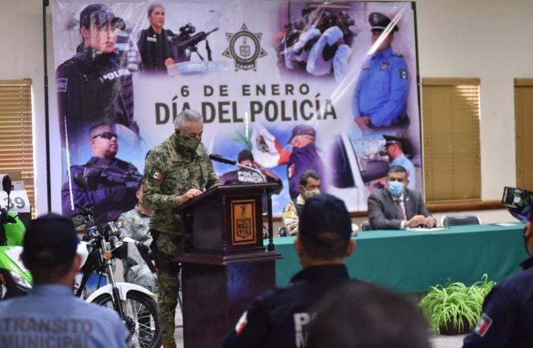 RECONOCE GOBIERNO MUNICIPAL A POLICÍAS DE CAJEME POR SU ARDUA LABOR
